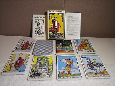 New 1971 The Rider Tarot Deck By Edward Waite Complete With 78 Cards Never Used