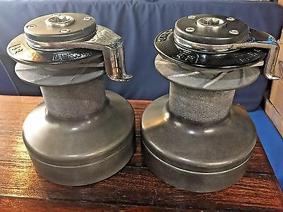 Pair Of Lightly Used Lewmar 42 Self Tailing 2 Speed Winches (Wavegrip Model)