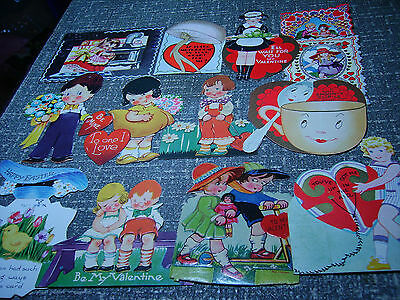 Lot of 13 Vintage Valentine & Greeting Cards Whitney USA Germany Most Unused EXC