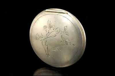 Antique Russian 875 Silver Engraved Snuff Box  070917038
