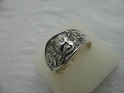 Antique Sterling Silver spoon RING s 9.5 Mr.CAT Jewelry #5538
