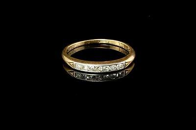 Antique Art Deco Diamond 14K Gold Platinum Girl Band Ring  (050317025)