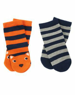 NWT Gymboree Boy S'MORE STYLE Two Pairs of Socks  12-24 Months