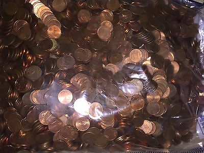 Lot Of 1000 One (1) Cent Euro Coins - Assorted Countries And Dates