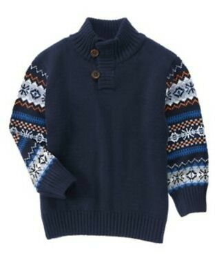NWT Gymboree Boy ARCTIC EXPLORER Navy Blue Sweater  Size 2T