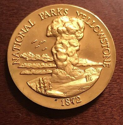 Yellowstone National Park. 1+ Oz Longines Gold - Plated Bronze Medal Coin