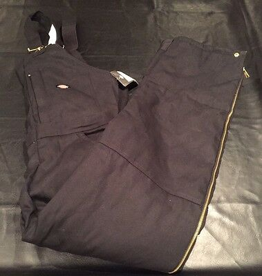 NWT Dickies premium insulated bib overalls large L black New Cold Weather Gear