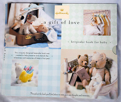 "Hallmark ""A Gift of Love"" Keepsake Book for Baby's First Year Scrapbook w/Cover"