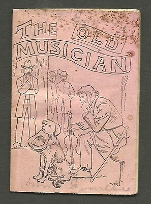 PISO'S Cure 16 Page 1887 Miniature Booklet THE OLD MUSICIAN, Middleburgh, N.Y.
