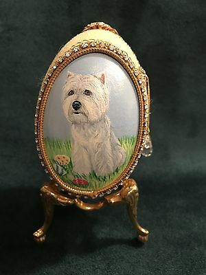 Hand Painted Collectors West Highland Terrier Goose Egg