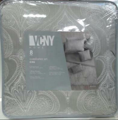 NEW VCNY Home Rennes 8pc Comforter Set King Taupe $106