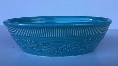 "Taylor Smith Taylor ~ TST ~ Light Blue Oval Oven Serve Ware Dish 6"" x 4"" USA"