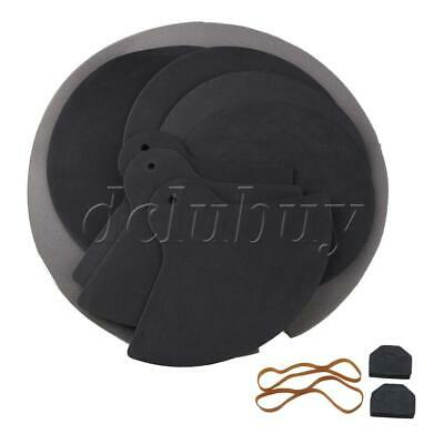 Jazz Drum Sound Off Mute Rubber Silencer Practice Pad Set for Percussion