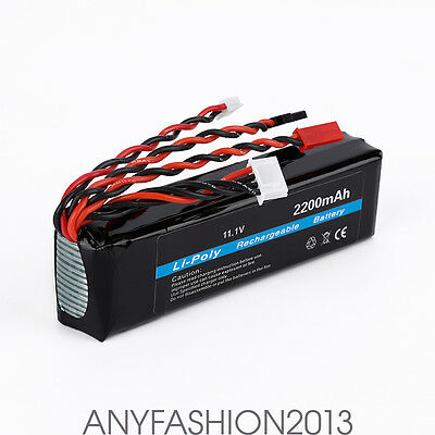 High Capacity 11.1V 2200mAh 20C Li-Po Rechargeable Battery for RC Aircraft Drone
