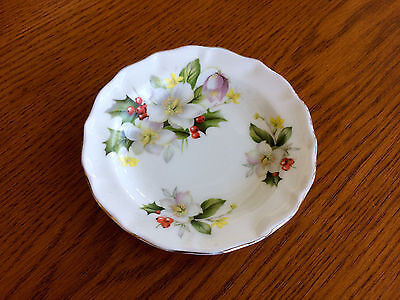 Beautiful Precious Flowers Floral Fine Bone China Small Plate - Made in England