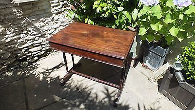 Beautiful Regency Mahogany writing table with side drawer
