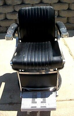 1 Vintage  Ultra Modern Belmont Barber Chair 1960's   $695.00