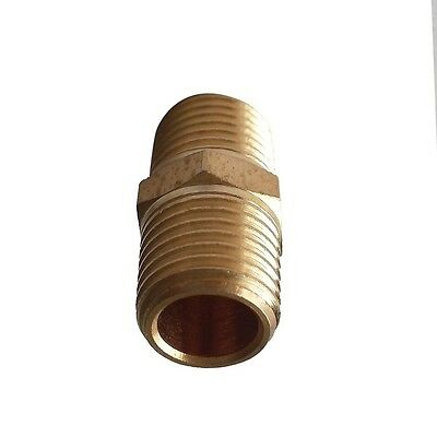 """3/8"""" NPT Equal  Hex Nipple Connector  Brsss Pipe Fitting"""