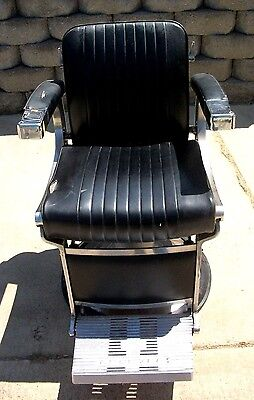 1 Vintage  Ultra Modern Belmont Barber Chair 1960's   575.00