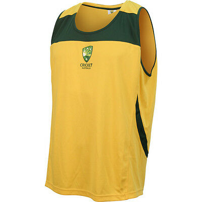 Cricket Australia Gold  Adults Supporters Singlet Sizes S-3XL! Made by ISC!