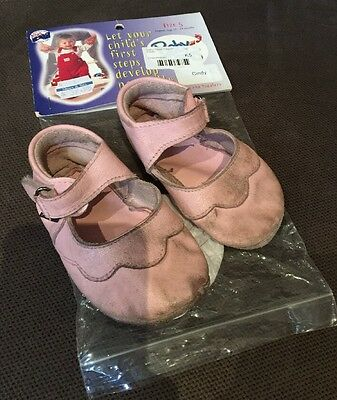 Baby Paws Pink Soft Leather Baby Shoes Size 5