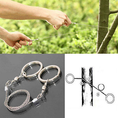 Outdoor Steel Wire Saw Bushcraft Hunting Camping Emergency Survival Gear Tools