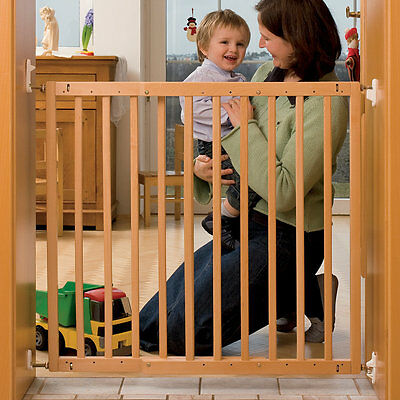 Babies R Us Wooden Extending Gate Baby Stair Safety Barrier, New Born Essentials