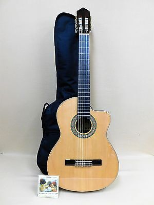 Rosales HS20 Cutaway Classical Guitar with EQ and Truss Rod + Gig Bag + Strings