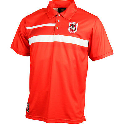 St George Illawarra Dragons NRL Classic Sublimated Polo Shirt Sizes S-5XL! 6