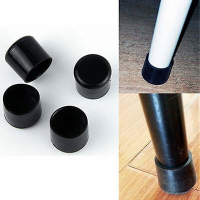 UK 4xBlack Rubber Ferrule <Small-Large> Chair/Table Furniture Feet Cap Grip Ends