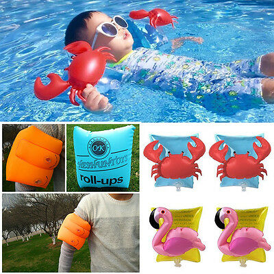 Kids Boys Girls Inflatable Beach Swimming Aid Arm Bands Ring Float AU