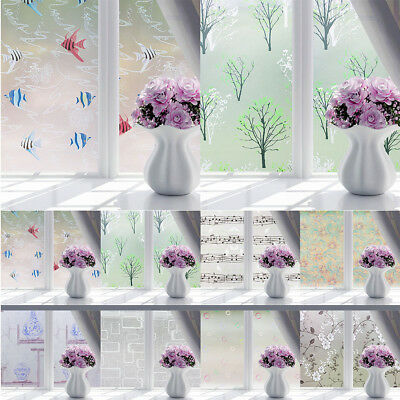 200x60CM Bathroom Home Glass Window Door Privacy PVC Frosted Film Sticker Paper