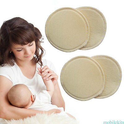 4* Reusable Leakproof Washable Ultra Soft Breastfeeding Cushion Nursing Pads