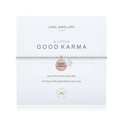Joma Jewellery A Little GOOD KARMA Silver Plated Bracelet - GENUINE & NEW
