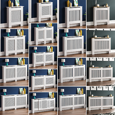 Radiator Cover White Modern Traditional MDF Wood Grill Cabinet Furniture Sizes