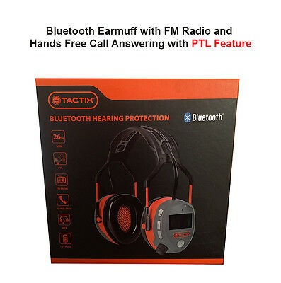 BLUETOOTH EARMUFF with FM Radio and Hands Free Call Answering and PTL Feature