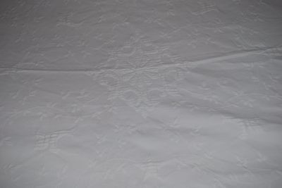 "Beautiful Antique White Embossed Marcella Cotton Bedspread Or Throw 72"" x 84"""