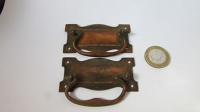 Pair of Antique, Copper Cabinet/drawer handles, Re claimed used condition.