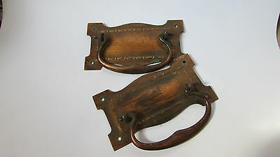 Two Antique, Copper Cabinet/drawer handles, Re claimed used condition.