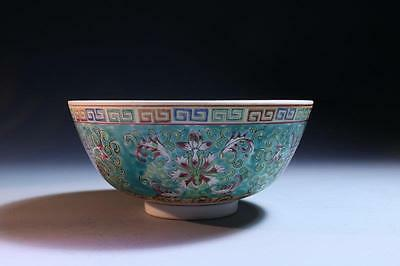 Antique Chinese Enameled Porcelain Bowl, 19th c.