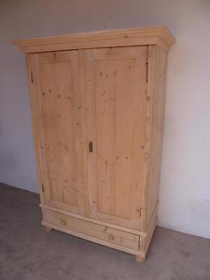 A Superb Large Antique/Old Pine 2 Door Knockdown Wardrobe to Wax/Paint
