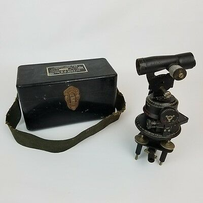 Vintage Astro-Compass MK II with Case - The W. W. Boes Co. Made in U.S.A.