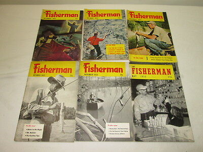 Vintage Issue Lot of 6 The Fisherman Magazine 1952-53
