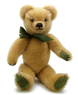 Vintage MERRYTHOUGHT Blonde Gold Mohair Classic Articulated Teddy Bear 14""