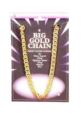 Forum Big Gold Chain Rapper Bling Gangster Costume Necklace, Gold, One Size