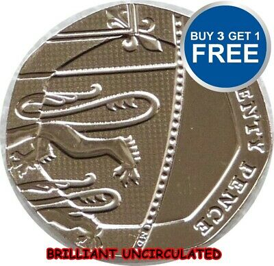 BRILLIANT UNCIRCULATED  ENGLISH DECIMAL TWENTY PENCE 2Ops COINS CHOICE OF DATE