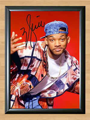 Will Smith Fresh Prince Bel Air Signed Autographed A4 Photo Poster Memorabilia