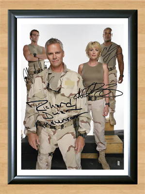 Stargate SG1 Cast Signed Autographed A4 Photo Poster Memorabilia Tapping Judge