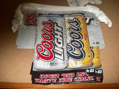 """Coors Light String  A Long  ..PARTY AND CAMPER/ NASCAR BANNER  """"FREE  SHIPPING"""""""