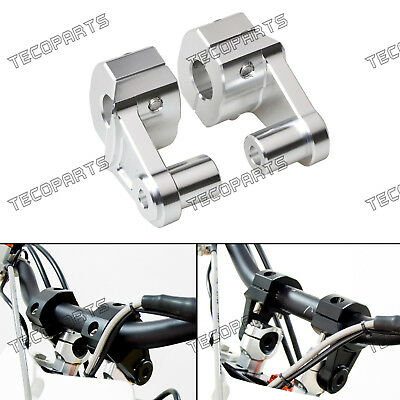 "Universal 7/8"",1 1/8"" Pivot CNC Handlebar Riser Clamp for all 22/28mm Motocycles"